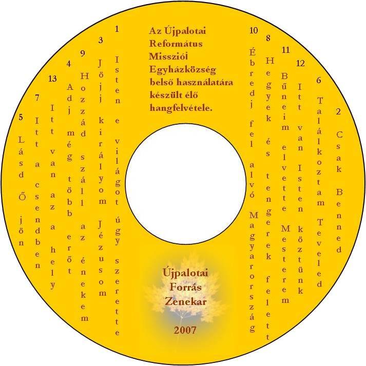 Újpalotai Forrás Zenekar hangfelvétele (2007)
