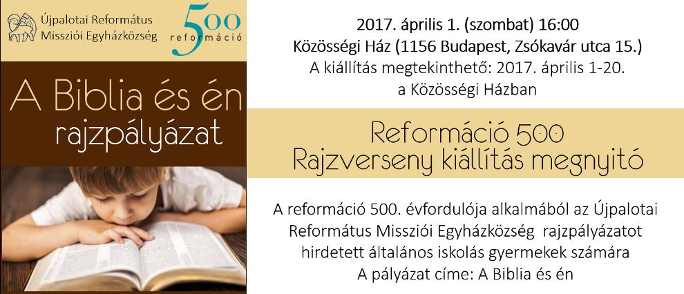 Reformáció 500 Rajzverseny kiállítás megnyitó
